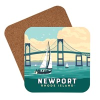 RI Newport Bridge Coaster