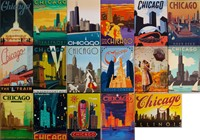 Chicago 17 Metal Magnet Set