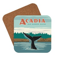 ME Whale Tail Bar Harbor Coaster