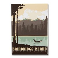 WA, Bainbridge Island Outdoors Magnet