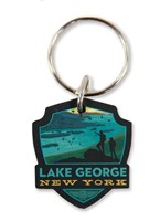 Lake George, NY Emblem Wooden Key Ring