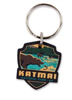 Katmai Emblem Wooden Key Ring