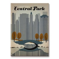 NYC Central Park Early Snow Magnet