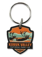 Kobuk Valley Emblem Wooden Key Ring