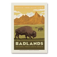 Badlands Enjoy Vert Sticker