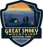 Great Smoky Back Country Camping Emblem Sticker