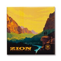 Zion 100th Anniversary Square Magnet
