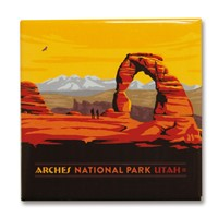 Arches Horizontal Square Magnet