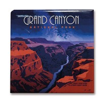 Grand Canyon Starry Landscape Square Magnet