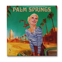 Palm Springs Girl Square Magnet