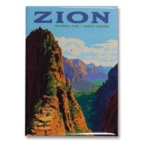 Zion Ascent to Angels Landing Vertical Magnet