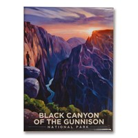 Black Canyon River View Magnet