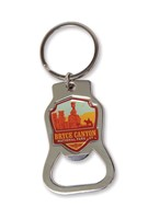 Bryce Canyon Emblem Bottle Opener Key Ring