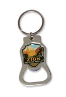 Zion Great White Throne Emblem Bottle Opener Key Ring