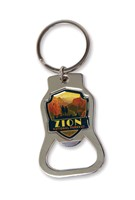 Zion Angels Landing Emblem Bottle Opener Key Ring
