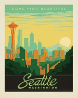 "Seattle Skyline 8"" x10"" Print"