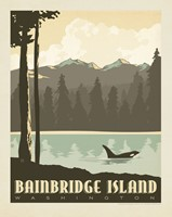 "WA, Bainbridge Island Outdoors 8"" x 10"" Print"