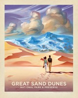 "Great Sand Dunes Sands of Time 8"" x10"" Print"