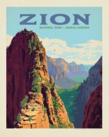 "Zion Ascent to Angels Landing Vertical 8""x10"" Print"
