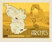 "Arches Map 8"" x10"" Print"