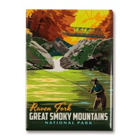 Great Smoky Raven Fork Magnet