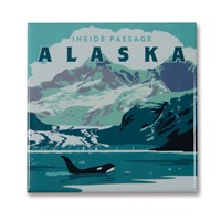 AK Inside Passage Square Magnet
