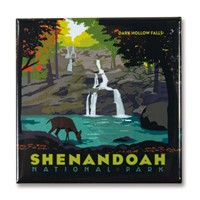 Shenandoah Dark Hollow Falls Square Magnet