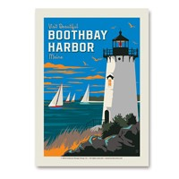 Visit Beautiful Boothbay Harbor Vert Sticker