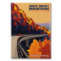 Great Smoky Foothills Parkway in the Fall Magnet