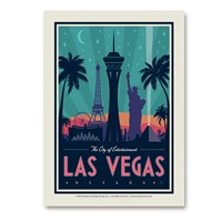Las Vegas City of Entertainment Vert Sticker