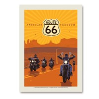 Route 66 American Freedom Vert Sticker