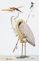 Fishing Heron (Single)