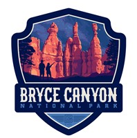 Bryce Canyon Star Gazing Emblem Wooden Magnet