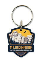 Mt. Rushmore Emblem Wooden Key Ring