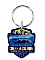 CA002EWR - Channel Islands Emblem Wooden Key Ring