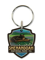 Shenandoah Wildflower Cub Emblem Wooden Key Ring