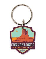 Canyonlands Emblem Wooden Key Ring