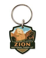 Zion Great White Throne Emblem Wooden Key Ring