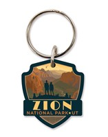 Zion Angels Landing Emblem Wooden Key Ring