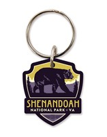 Shenandoah Bear Emblem Wooden Key Ring