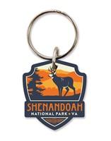 Shenandoah Buck Emblem Wooden Key Ring