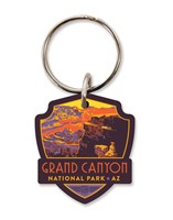 Grand Canyon Landscape Emblem Wooden Key Ring