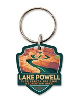 AZ/UT Lake Powell Emblem Wooden Key Ring