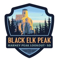 SD014EWM - Black Elk Peak SD Emblem Wooden Magnet