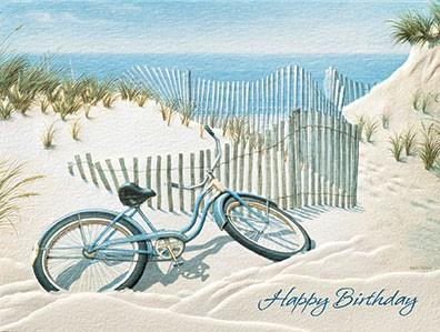 Beach Bike | Beach themed birthday note cards